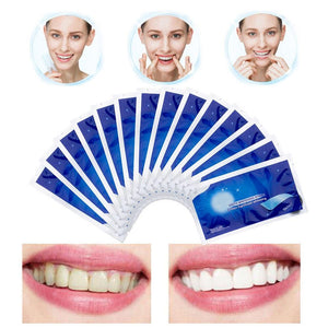 28Pcs/14Pairs Advanced Teeth Whitening Strips Stain Removal for Oral Hygiene Clean Double Elastic Dental Bleaching Strip - SaturnLoop Shops Sales