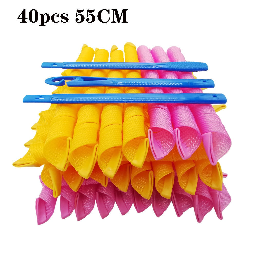40 Root 55 Centimeter Magic Hair Curler Hair Curlers Magic Hair Curlers Hair Curler Does Not Damage Hair Hair Rollers
