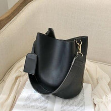 Load image into Gallery viewer, casual wide strap buckets bag designer women shoulder bags luxury pu crossbody bag large capacity messenger bag simply purses - SaturnLoop Shops Sales