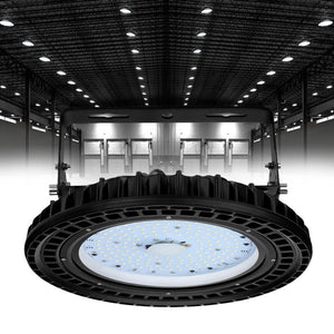 UFO LED High Bay Light 100W Waterproof High Brightness for Workshop Parking Warehouse Gyms 10000Lm - SaturnLoop Shops Sales