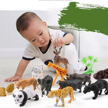 Load image into Gallery viewer, Free Shipping-44Pcs Wild Animals Toy Simulation,Animals Model for Children Early Learning - SaturnLoop Shops Sales