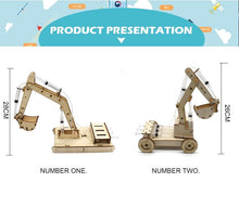 Load image into Gallery viewer, STEM Toys for Children Educational Science Experiment Technology Toy Set  DIY Hydraulic Excavator Model Puzzle Painted Kids Toys - SaturnLoop Shops Sales