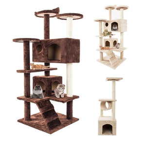 36/52 Inch Cat Tree Tower Condo Furniture Scratch Post for Kittens Pet House Play Tree Climbing Shelf DIY Cats Scratching Toys - SaturnLoop Shops Sales