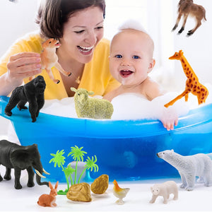 Free Shipping-44Pcs Wild Animals Toy Simulation,Animals Model for Children Early Learning - SaturnLoop Shops Sales