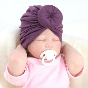 8 Colors Infant Headbands Solid Color Cotton Kont Turban Headwear For Girls Spandx Stretchy Beanie Hat Baby Hair Accessories - SaturnLoop Shops Sales