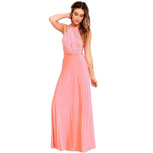 (spot) Temperament Bridesmaid long sister group dress 2020 bride Bridesmaid dress many kinds of long Party dinner dress gowns - SaturnLoop Shops Sales