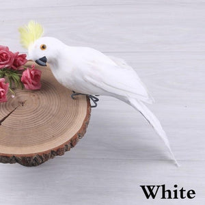 25/35cm Handmade Simulation Parrot Creative Feather Lawn Figurine Ornament Animal Bird Garden Bird Prop Decoration Miniature - SaturnLoop Shops Sales