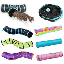 Load image into Gallery viewer, Free Shipping-Foldable Pet Training Interactive Fun Toy For Cats Rabbit Animal Play Tunnel Tube - SaturnLoop Shops Sales