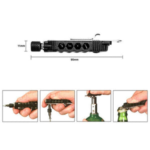 Newest Adjustable Mini Multi-function Screwdriver Outdoor Portable Tool Set With LED Night Light Use For Outdoor Camping - SaturnLoop Shops Sales