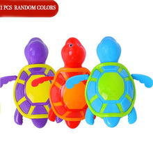 Load image into Gallery viewer, Single Sale Cute Cartoon Animal Tortoise Classic Baby Water Toy Infant Swim Turtle Wound-up Chain Clockwork Kids Beach Bath Toys