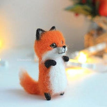 Load image into Gallery viewer, Cute and interesting handmade toys DIY wool felt cat kits unfinished plush doll poking music toy gift - SaturnLoop Shops Sales