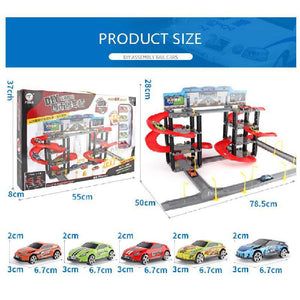 Free Shipping-Parking Toy:Set Three-dimensional Multi-layer Car,Assembly Rail Car Parent-child Interaction Gift - SaturnLoop Shops Sales