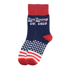 Load image into Gallery viewer, 2020 Election Spoof Funny President Donald Trump Socks With 3D Fake Hair Crew Socks Mens Compression Socks Streetwear Hip Hop