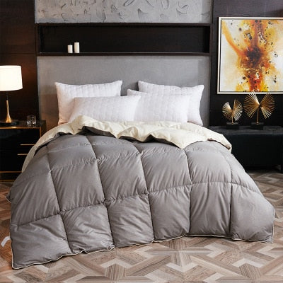 Goose/duck down quilt blanket duvet for winter/summer white cotton cover thicken comforter King Queen Twin size fast free ship