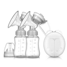 Load image into Gallery viewer, Double Bilateral Electric Breast Pump Milker Suction Large Automatic Massage Postpartum Milk Maker Bebes Accesorios - SaturnLoop Shops Sales