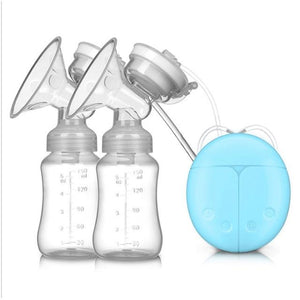 Double Bilateral Electric Breast Pump Milker Suction Large Automatic Massage Postpartum Milk Maker Bebes Accesorios - SaturnLoop Shops Sales