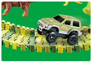 Free Shipping-Dinosaur Railway Toy,Car Track Racing Track Toy For Children Boys - SaturnLoop Shops Sales