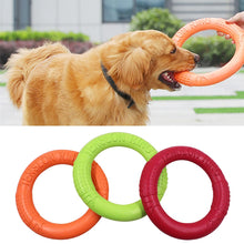 Load image into Gallery viewer, Pet Flying Discs EVA Dog Training Ring Puller Resistant Bite Floating Toy Puppy Outdoor Interactive Game Playing Products Supply