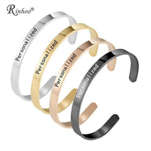 Load image into Gallery viewer, 1PC Personalized Engraved Custom Name Stainless Steel Bracelet Jewelry Name Words Letters Custom Bracelet & Bangle For Women men
