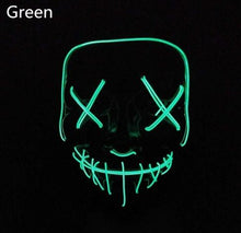 Load image into Gallery viewer, Halloween LED Glow Masks Horror Rave Mask Light up for Festival Cosplay Costume Funny Election Party Decor Purge Mask - SaturnLoop Shops Sales