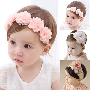 Baby Headband Flower Girls Bows Toddler Hair Bands for Baby Girls Kids Headbands Turban Newborn Haarband Baby Hair Accessories - SaturnLoop Shops Sales
