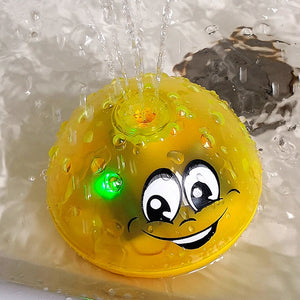 Hot selling Lovely LED Flashing Bath Toys Ball Water Squirting Sprinkler Baby Bath Shower Kids Toys