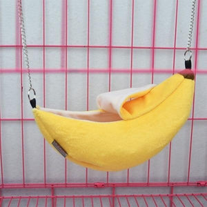 Animals Design Pet Banana Hamster Rat Hammock Cage House Nest  Hamster Warm House  Small Animal Hammock - SaturnLoop Shops Sales