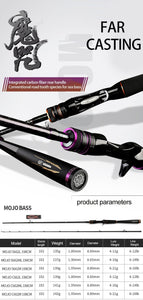 OBSESSION ultra light Carbon fishing rod spinning casting 1.98m2.13m2.28m L M ML MH 2section baitcasting Rock fishing rod Tackle - SaturnLoop Shops Sales