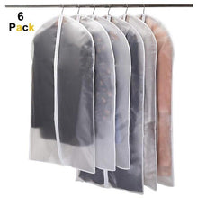 Load image into Gallery viewer, 6pcs Dustproof Cloth Cover Bags Transparent Wardrobe Storage Bag Dust Cover Clothes Protector Garment Suit Coat Dust Cover - SaturnLoop Shops Sales