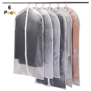 6pcs Dustproof Cloth Cover Bags Transparent Wardrobe Storage Bag Dust Cover Clothes Protector Garment Suit Coat Dust Cover - SaturnLoop Shops Sales