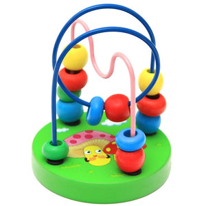 Baby Toddler Educational Lovely Animals Round beads Kids Toys For Newborns Children Cribs Stroller Mobile Montessori 9*11cm