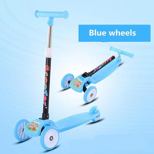 Children's Scooter Kids Scooter 3 In 1 Balance Bike Children's Tricycle Scooter for Kids Ride On Toys Flash Folding Baby Car - SaturnLoop Shops Sales