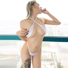 Load image into Gallery viewer, Women One Piece Swimsuit Porn Party Bodysuits Sexy Micro Bikini Perspective String Camisole Nude Expose Belly Bikinis Swimwear
