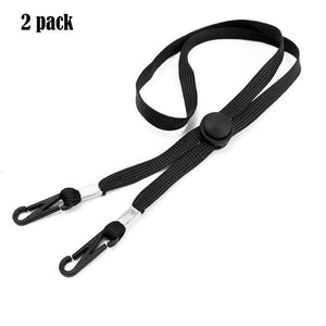 Adjustable Face Mask Lanyard Handy&Convenient Safety Mask Rest&Ear Holder Rope Costumes Cosplay Accessories Facemask New Black - SaturnLoop Shops Sales