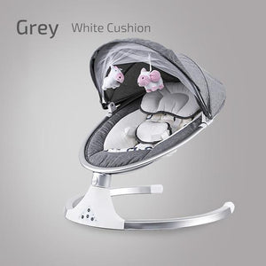 Baby Shining Smart Electric Baby Cradle Crib Rocking Chair Baby Bouncer Newborn Calm Chair Bluetooth with Belt Remote Control - SaturnLoop Shops Sales