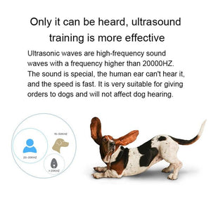 Ultrasonic Pet Trainer For Dog Barking Control Manual By Battery Anti-barking Stop Bark Deterrents Dogs Pet Training Device - SaturnLoop Shops Sales