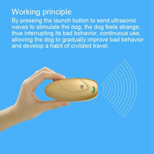 Load image into Gallery viewer, Ultrasonic Pet Trainer For Dog Barking Control Manual By Battery Anti-barking Stop Bark Deterrents Dogs Pet Training Device - SaturnLoop Shops Sales