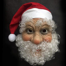 Load image into Gallery viewer, Merry Christmas Santa Claus Latex Mask Outdoor Ornamen Cute Santa Claus Costume Masquerade Wig Beard Dress up Xmas Party - SaturnLoop Shops Sales