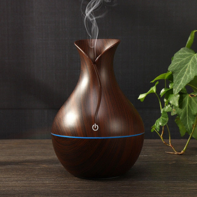 Creative Appearance USB LED Ultrasonic Aroma Humidifier Essential Oil Diffuser ABS PP Exquisite Aroma therapy Purifier new