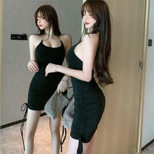 Load image into Gallery viewer, Summer sexy strapless back dress 2020 new fashion mini party high waist sleeveless sexy dress - SaturnLoop Shops Sales