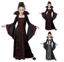 Load image into Gallery viewer, Cosplay New Halloween Costume For Kids Girls Vampire Costume girl red black medieval dress costume Child kids costume For Party - SaturnLoop Shops Sales