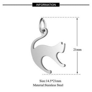 5pcs/lot 100% Stainless Steel Dog Paw Cat Animal Charm Wholesale Sun Om Connector Yoga Lotus Heart DIY Charms for Jewelry Making - SaturnLoop Shops Sales