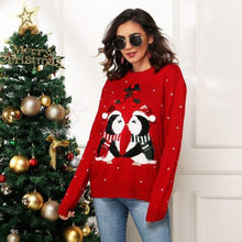 Load image into Gallery viewer, Women Casual Christmas Pullovers Sweater 2020 New Autumn Winter Penguin Printed Holiday Party Women Warm Knitted Sweater Tops - SaturnLoop Shops Sales