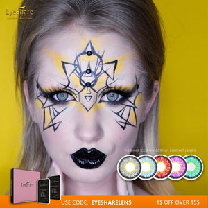 EYESHARE 1 Pair INCESNOW Cosplay Colored Contact Lenses Cosmetic Contacts for Eyes Beautiful Pupil - SaturnLoop Shops Sales