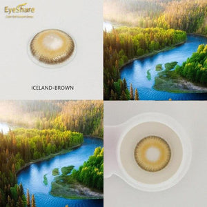 EYESHARE- 2pcs/Pair NEW ARRIVAL ICELAND Colored Contact Lenses for Eyes Cosmetic Eye Makeup - SaturnLoop Shops Sales
