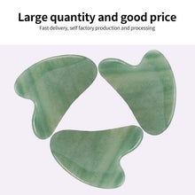 Load image into Gallery viewer, Natural Jade Gua sha Stone Board Massage Rose Quartz Guasha Plate Jade Face Massager Scrapers Tools for Body Back Face Neck - SaturnLoop Shops Sales