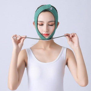 Face V Shaper Facial Slimming Bandage Relaxation Face Thining Band Massage Lift Up Belt Shape Lift Reduce Double Chin - SaturnLoop Shops Sales