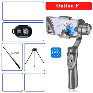 Orsda APP H4 3-axis gimbal stabilizer Gopro camera stabilizer shandheld selfie stick Tripod for smartphone connection Bluetooth