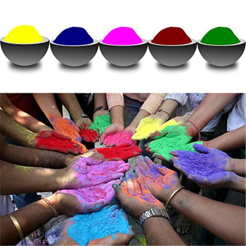 Free Shipping-100g/bag Colored Powder For Holi Party and Novelty Festival - SaturnLoop Shops Sales