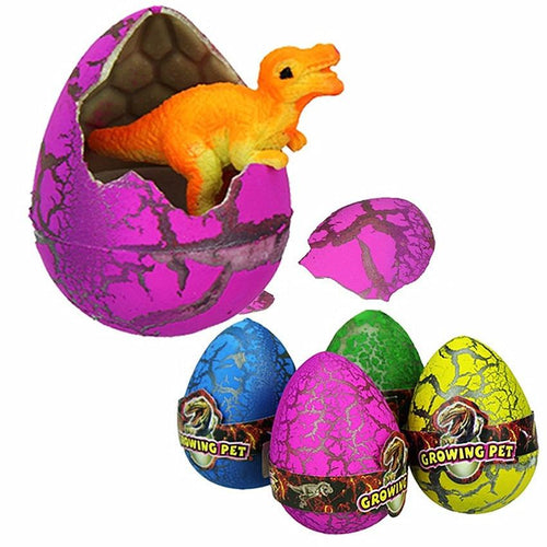5Pcs Large Colorful Water Hatching Inflation Dinosaur Egg Dinosaur Toy Watercolor Cracks Grow Egg Novelty Gag Toys Egg Surprise - SaturnLoop Shops Sales